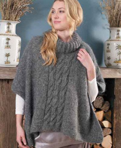 free knit poncho patterns free easy knitted poncho pattern