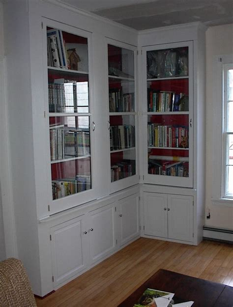 white bookcase with cabinet furniture l shaped white stained mahogany wood bookcase with glass doors and storage