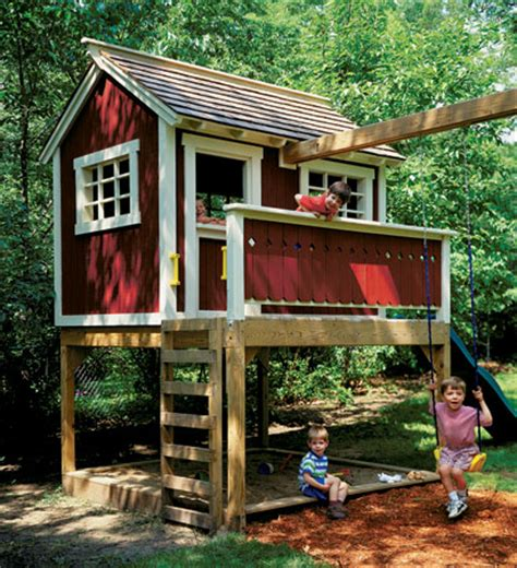 backyard playhouse ideas backyard playhouse woodsmith plans