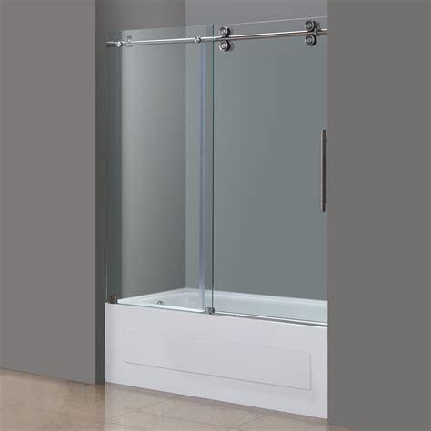 tub shower doors frameless aston langham 60 quot x 60 quot completely frameless tub height