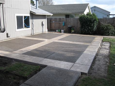 backyard concrete patio designs creating patios driveways pathways pacific brothers