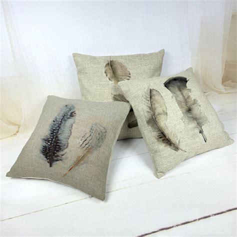aliexpress buy feather as a pattern pillow linen cushion decorative pillows