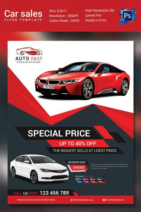 Car Wallpapers Free Psd Flyer by Sales Flyer Template 61 Free Psd Format Free