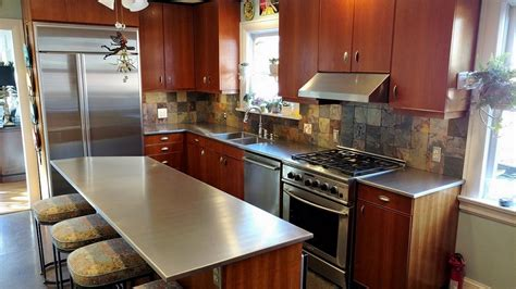 kitchen islands with stainless steel tops images of stainless steel countertops stainless gallery by stainless nc