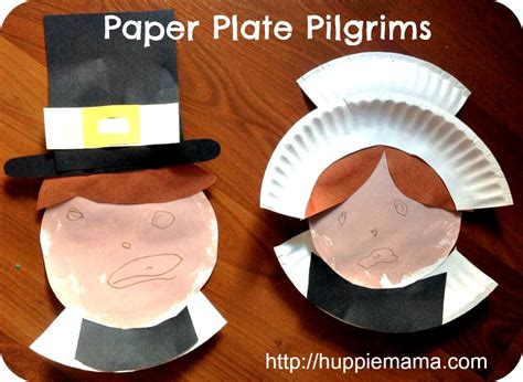 pilgrim paper plate craft paper plate pilgrims thanksgiving crafts