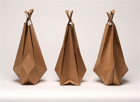 origami bags with paper impackt magazine packaging design culture fashion