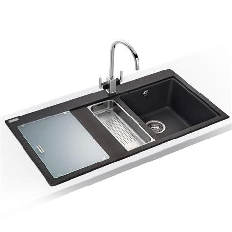 franke black kitchen sinks franke mythos 1 5 bowl granite onyx black kitchen sink