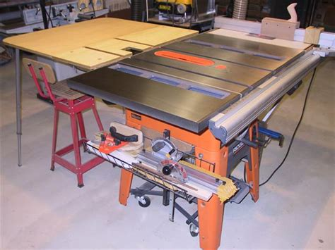 rigid woodworking tools 3650 outfeed table ridgid plumbing woodworking and