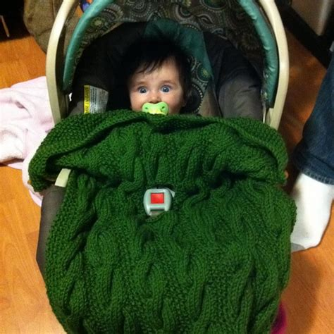knitted car pattern car seat blanket for baby and toddler pdf knitting