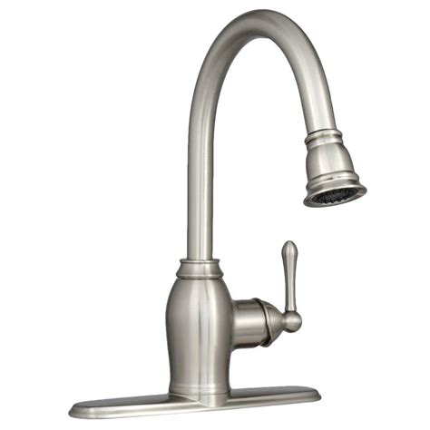 brushed nickel kitchen faucet ez flo metro collection european flair single handle pull out sprayer kitchen faucet in brushed