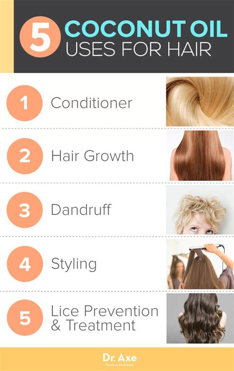 how to use in hair 5 best uses of coconut for hair dr axe