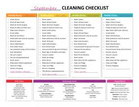 cleaning list complete housekeeping printable set like rainbows