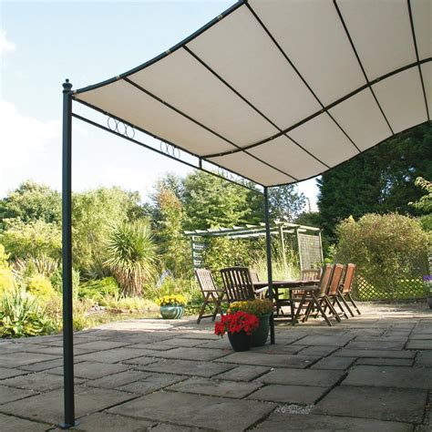 wall mounted garden 8 2 quot x 6 7 quot ft 2 5 x 2m wall mounted garden canopy patio
