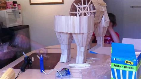 how to make things out of pony trojan popsicle sticks time lapse
