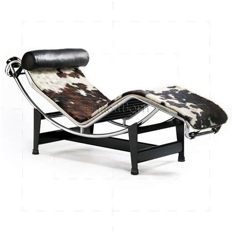 le corbusier style lc4 chaise longue pony leather