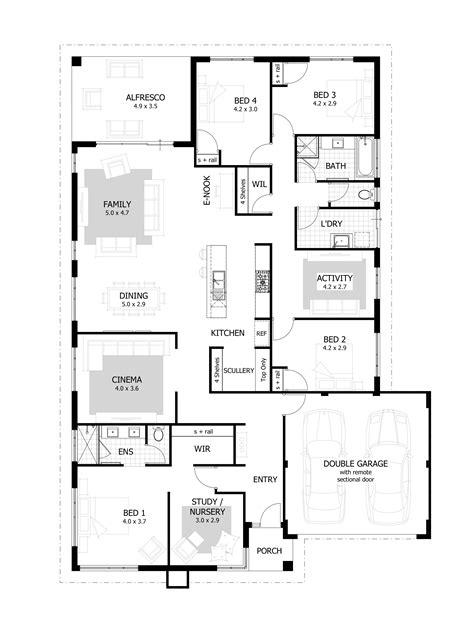 4 bedroom flat floor plan 4 bedroom house plans home designs celebration homes