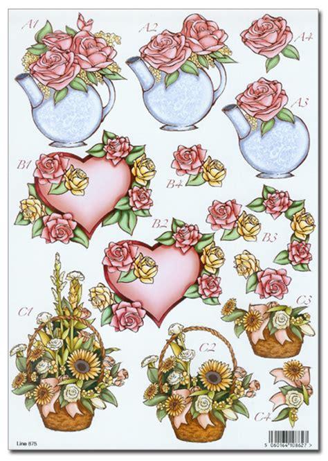 3d decoupage pictures die cut 3d decoupage a4 sheet floral mothers day