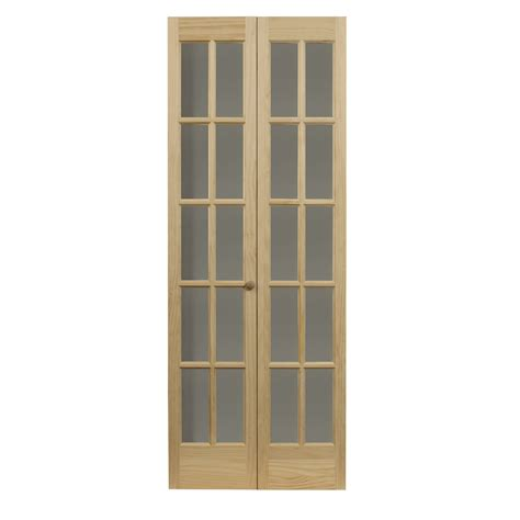 solid bifold closet doors shop pinecroft classic solid pine bi fold