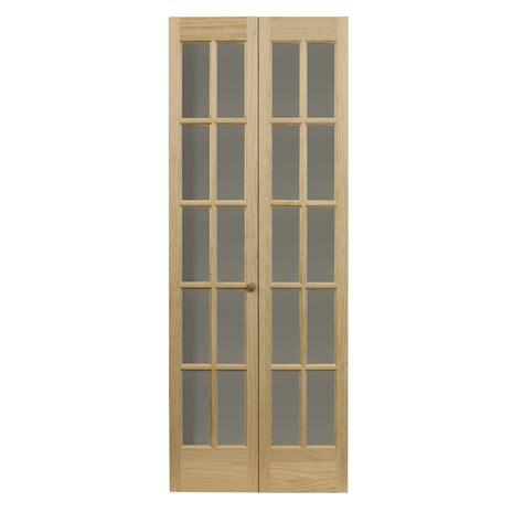 vented bifold closet doors shop pinecroft classic solid pine bi fold
