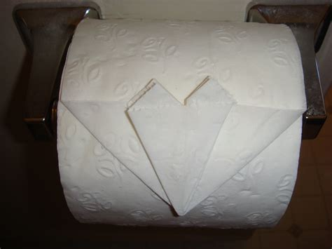 toilet paper origami how to fold a toilet paper origami firehow