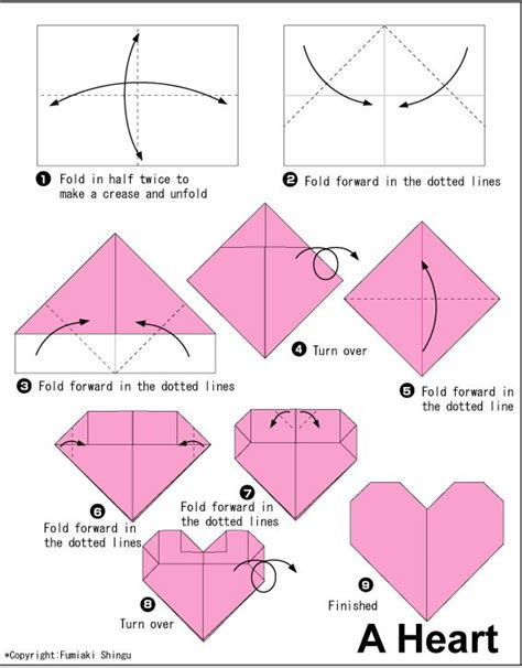 small origami hearts 52 best tea bag folding patterns images on