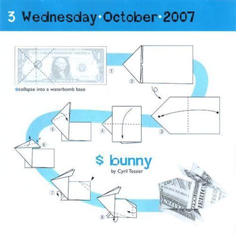 dollar bill origami diagrams origami bunny from dollar bill origami