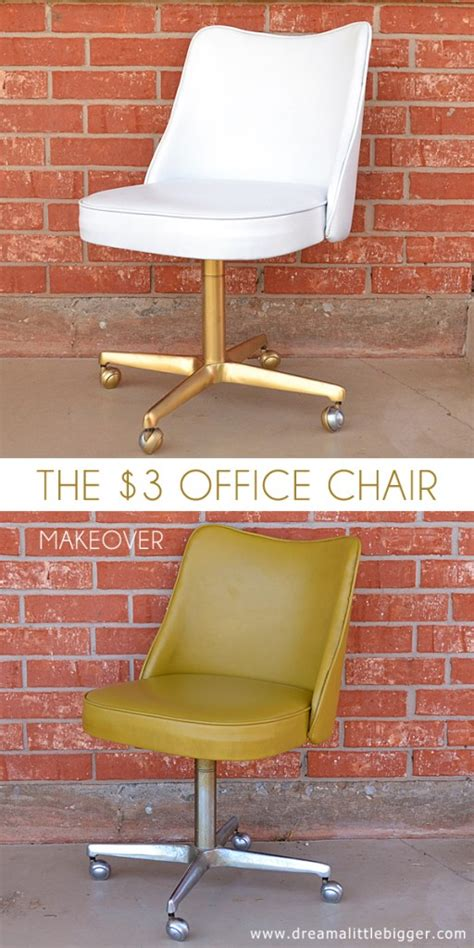 spray painting vinyl furniture the 3 office chair makeover a bigger