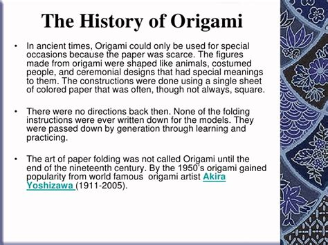 the origin of origami how to fold origami