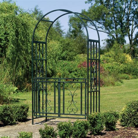 Garden Arch Gate Uk Uk Garden Supplies Kensington Metal Garden Arch With Gates