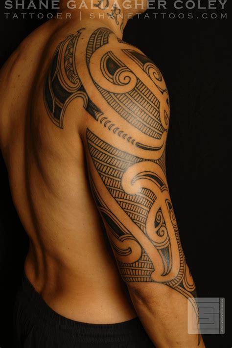 maori polynesian tattoo maori sleeve ta moko