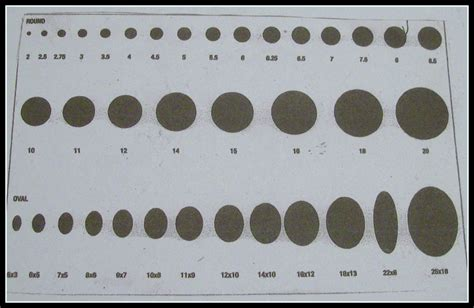 bead size guide free at last actual oval bead sizes millimeters
