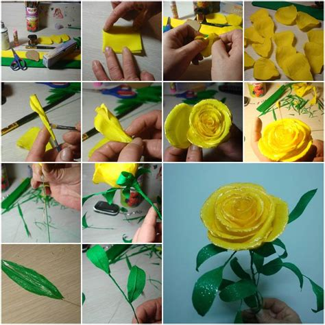 how to make handmade paper crafts diy paper flower tutorial step by step