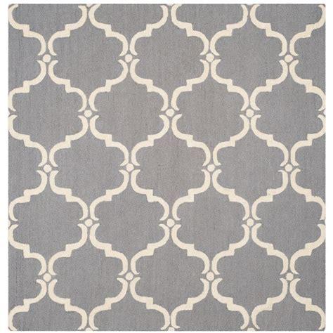 6 square area rug safavieh cambridge gray ivory 6 ft x 6 ft square