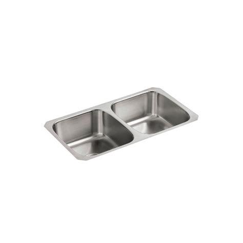 undercounter kitchen sink kohler undertone undercounter stainless steel 32 in