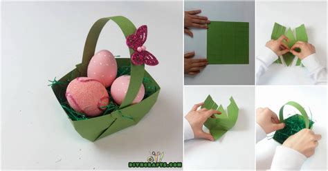 crafts to make out of paper here is how to make a beautiful easter basket out of