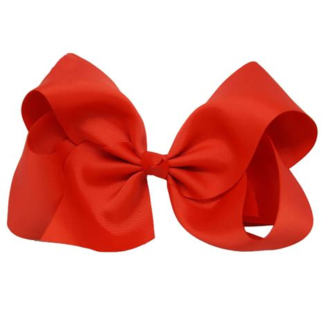 large bows for boutique 8 inches large solid grosgrain ribbon hair bow