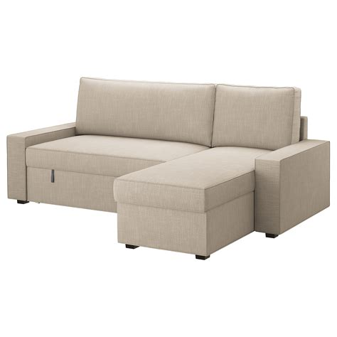 cover for sofa bed vilasund cover sofa bed with chaise longue hillared beige
