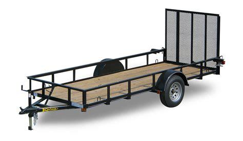 landscape lighting exles standard single axle utility trailers by kaufman trailers