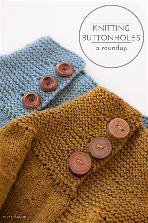 Journey Kal Knitting Buttonholes A Roundup Shannon