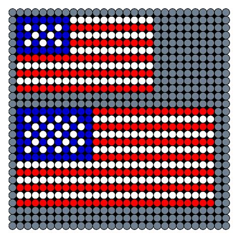 perler bead patterns small american flag small and medium perler bead pattern bead