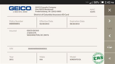 how to make a auto insurance card geico car insurance card template 187 ibrizz