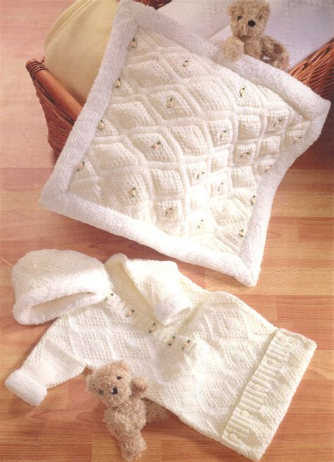 baby sleeping bag knitting pattern uk hooded baby sleeping bag padded blanket knitting pattern