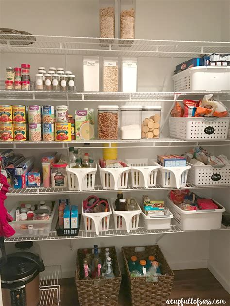 how to organize a pantry how to organize your pantry a cup of sass