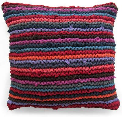 knitting with fabric yarn knitting with t shirts throw pillow knitted using t