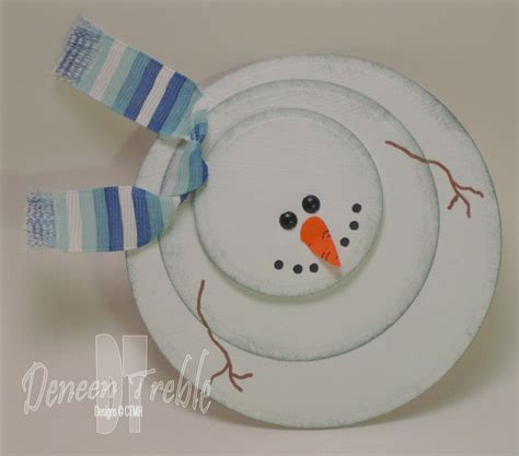 snowman cards to make a path of paper more simple cards
