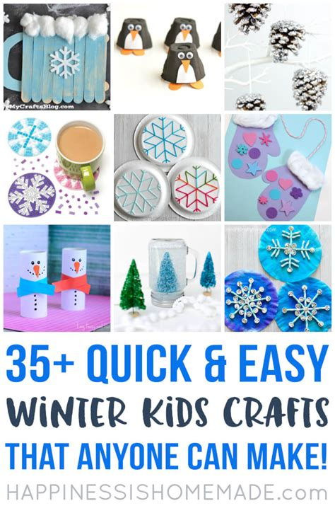 winter kid crafts easy winter crafts that anyone can make happiness