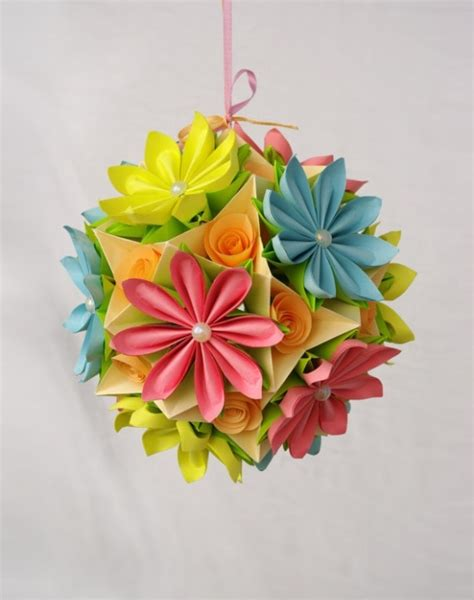 kusudama origami flower flower kusudama origami paper flowers and origami