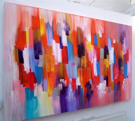 how to do acrylic paint on canvas abstract canvas acrylic painting by seb farrington