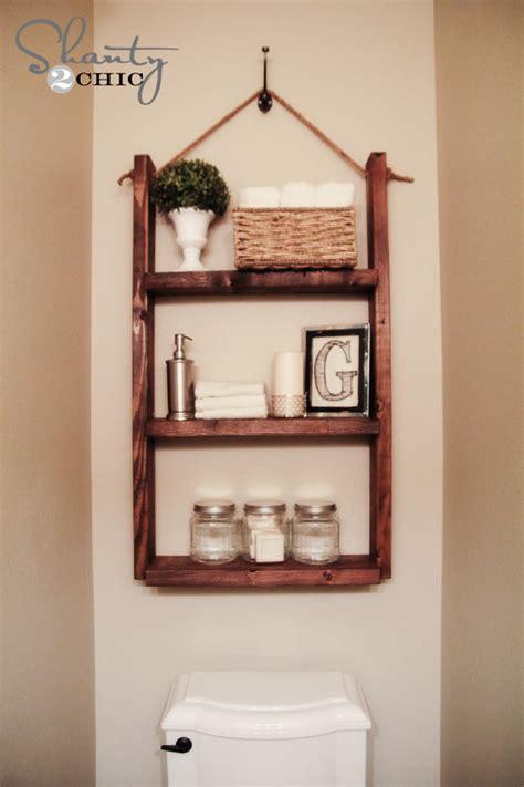 shelves for bathroom how to make a hanging bathroom shelf for only 10