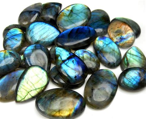 jewelry supplies gemstones 500 carats labradorite cabochons wholesale lot